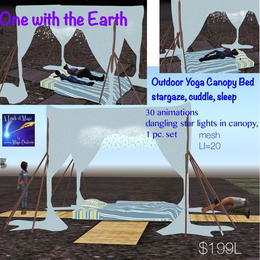 One with Earth Yoga Bed stargaze and sleep cuddle-Crate