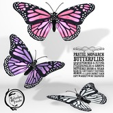 Schadenfreude Pastel Monarch Butterflies