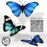 Schadenfreude Blue Morpho&Pink Forester Monarch Butterflies