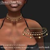 Choker Chain Trio Gold     -RYCA-