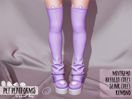 Sweet Thing. Pet Platforms - Purple (Maitreya, Hourglass, Kemono, Belleza, Physique)