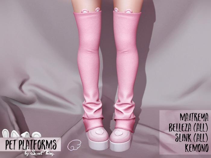 Sweet Thing. Pet Platforms - Pink (Maitreya, Hourglass, Kemono, Belleza, Physique)