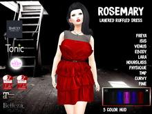 [F] Rosemary  Layered Ruffled Dress w/ HUD