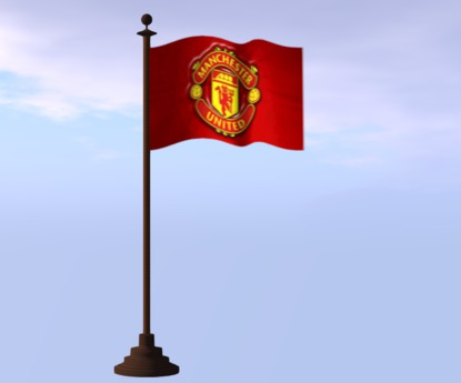 Second Life Marketplace Flag Animated Manchester United Mesh 4 Prim