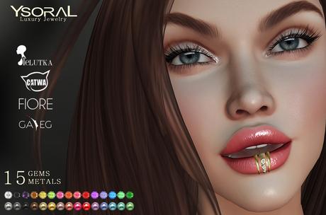 (BENTO HEAD)~~ Ysoral ~~ .:Luxe Piercing lips Ofelia :