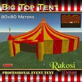 Big Top Tent 80x80 - Red & Yellow - COPY - Circus Tents