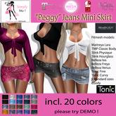 "[Simply Me!]  ""Peggy"" Jeans Mini Skirt (Fitmesh)"