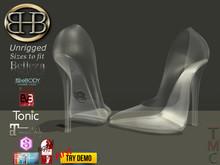 !!BHB!! GLASS SLIPPERS  V4 UPDATED BELLEZA , TONIC, EVE, EBODY, MAITREYA, SIGNATURE, N-CORE, SLINK RIGGED,  RESIZE