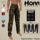 -HORR- Mesh Pajama Bottoms - Paisley 01 [BOXED]