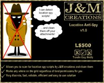 J&M Creations Location Anti-Spy v1.0 (Detect if any one is spying on your location on the map)