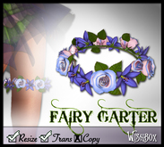 [Wishbox] Fairy Garter (Lavender) - Fae Flower Wreath for Thigh - Bridal & Wedding Fantasy Accessory