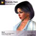 A&A Brandy Hair Dark Unicorn (FUNCTIONAL DEMO). Womens mesh hairstyle