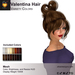 A&A Valentina Hair Variety Colors Pack. Resizable mesh womens updo hairstyle