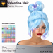 A&A Valentina Hair Pastel Colors Pack. Resizable mesh womens updo hairstyle