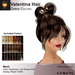 A&A Valentina Hair Ombre Colors Pack. Resizable mesh womens updo hairstyle