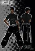 ::Kitteh Bitz:: Black Skulls Pants Outfit (male)