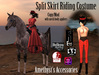 Split Skirt Riding Costume - Victorian/Steampunk - for Mesh/Classic Avatars