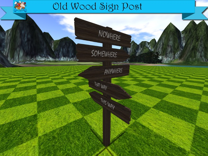 TD Creations - Old Wood Sign Post