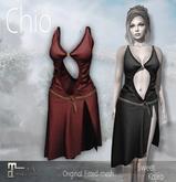 *Sweet Kajira* Chio RED Fitted mesh dress Maitreya(BOX)
