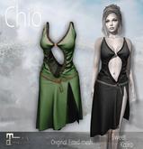 *Sweet Kajira* Chio BLACK Fitted mesh dress Maitreya(BOX)
