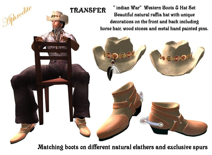"Western Boots & Hat Set ""Indian war""  (boxed)"