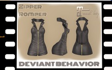 DB - Zipper Romper (Black)