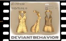 DB - Zipper Romper (Gold)