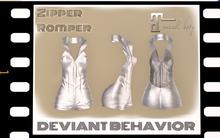 DB - Zipper Romper (Silver)