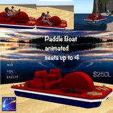 Paddle Boat up to 4 can sit-res on water animated