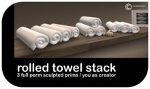 CONSTRUCT - Sculpted Rolled Towel Stack 1 PRIM
