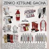 Caboodle - Zenko Kitsune Socks - Maitreya - Red