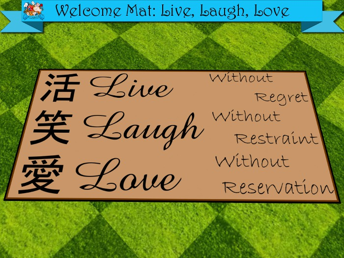 TD Creations - Welcome Mat: Live, Laugh, Love