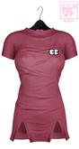 Ec.cloth - Self stripe lazy dress - Pink
