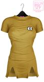 Ec.cloth - Self stripe lazy dress - Yellow