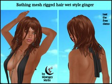 Bathing mesh rigged hair ginger wet style mi long / short
