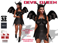 [F] Devil Queen Costume - Fitmesh - Materials Enabled