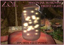 Z.O.E. Mason Jar w/ Firefly Lights