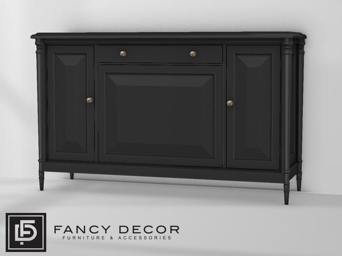 Fancy Decor: Crawford Cabinet (black)