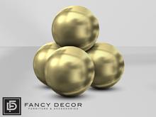 Fancy Decor: Sphere Art Sculpture (gold)