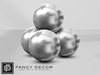 Fancy Decor: Sphere Art Sculpture (silver)