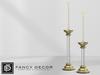 Fancy Decor: Lucite Candlesticks (brass)