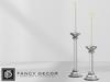 Fancy Decor: Lucite Candlesticks (silver)