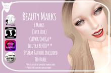 Kitty's Claws: Beauty Marks - CATWA/LELUTKA BENTO/OMEGA/SYSTEM