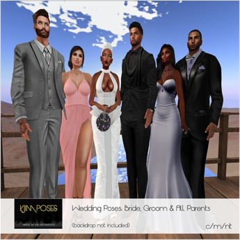 Second Life Marketplace Kjim Poses Wedding Pose Set Bride Groom All Parents