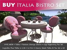 MOCO HOMES Emporium ~ Italia Vintage Bistro Chair & Table Set