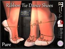 ** Ribboned Dance Shoes Pure **  (Slink,Maitreya,Belleza,TMP)