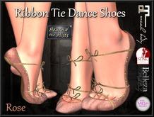 ** Ribboned Dance Shoes Rose ** (Slink,Maitreya,Belleza,TMP)
