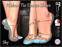 ** Ribboned Dance Shoes Sky ** (Slink,Maitreya,Belleza,TMP)