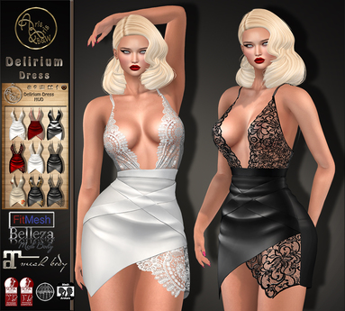 ***ArisarisB&W~Delirium Dress - Change Hud