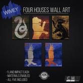 Wimey: Four Houses Wall Art